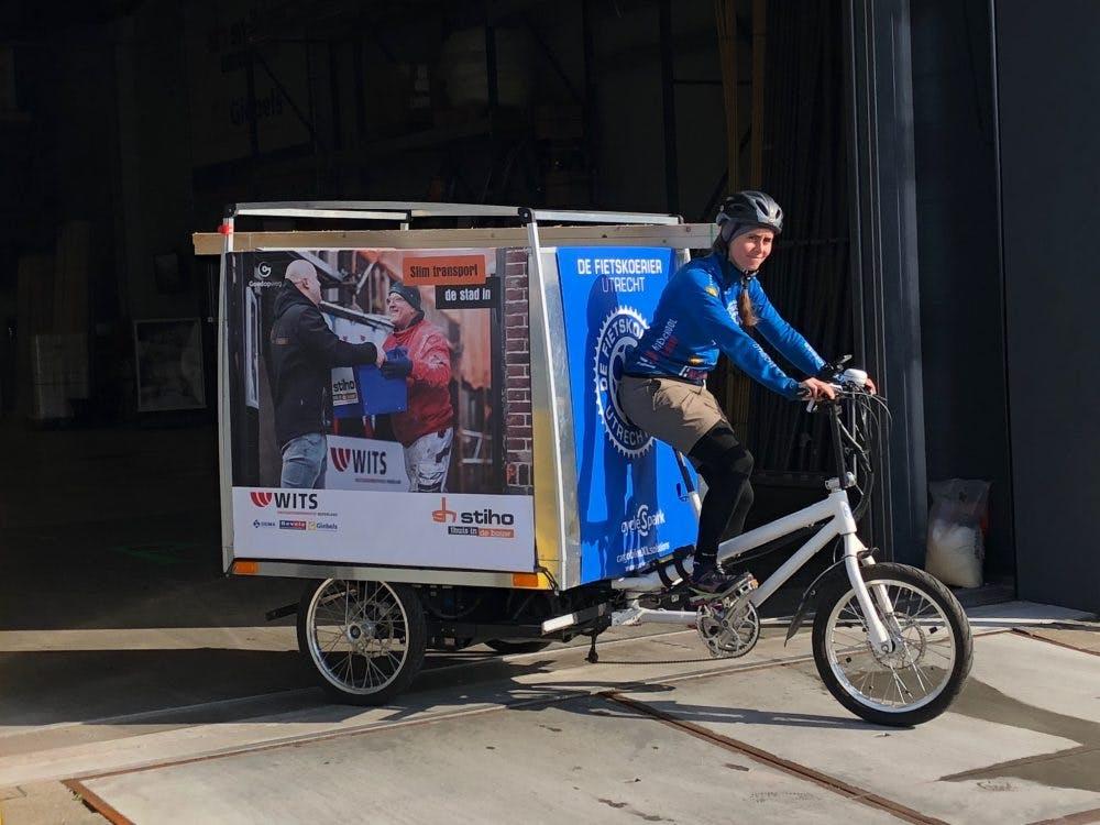 Honderden kilo's aan materialen op de fiets naar de bouwplaats: in Utrecht kan het