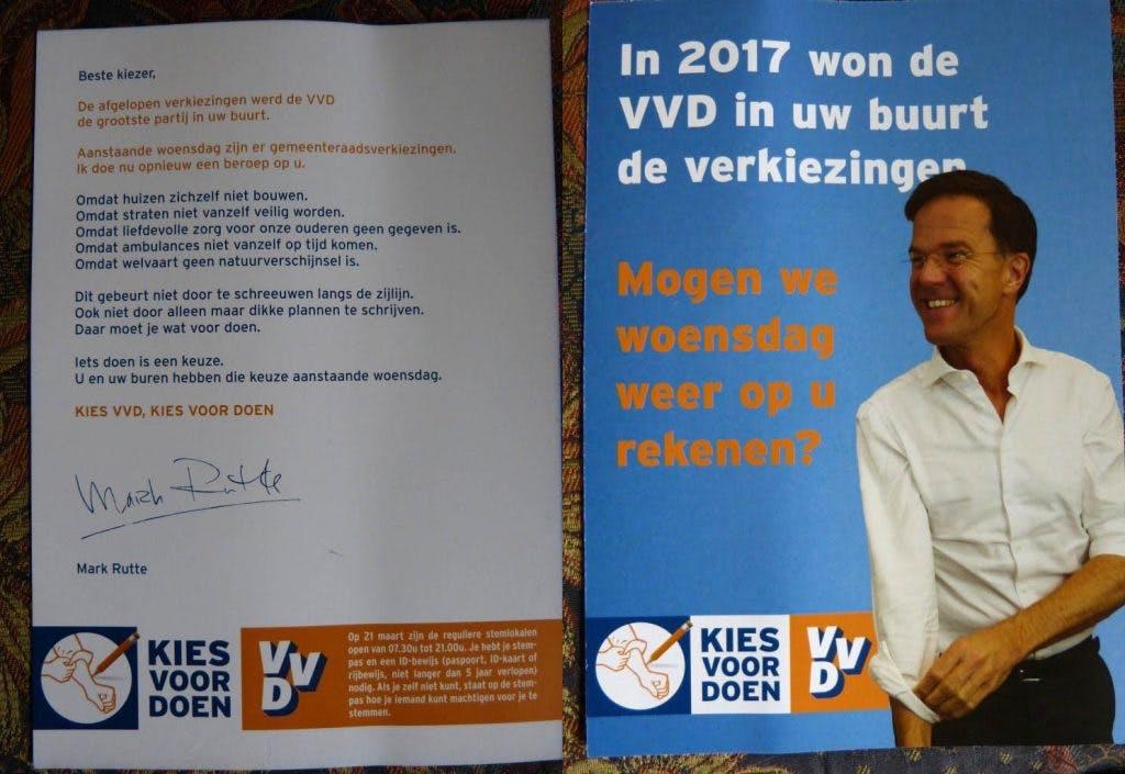 Klopt deze flyer in Utrecht wel of niet? 'De VVD de grootste partij in uw buurt'