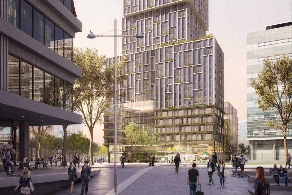 Toren met 250 hotelkamers en 330 woningen bij Utrecht Centraal kan beginnen