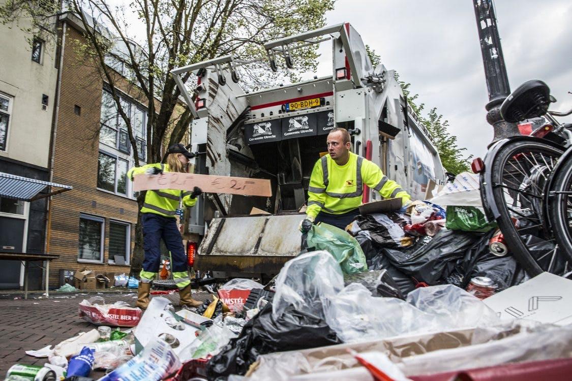 Foto's: Grote schoonmaak na Koningsdag