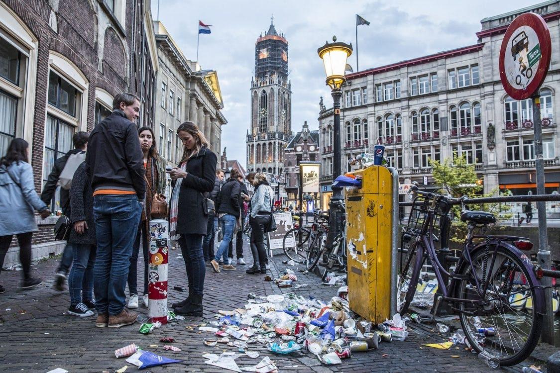 Geen groot feest op Stadhuisplein, Domplein of Neude tijdens Koningsdag