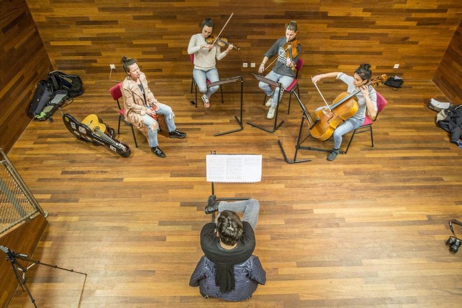 Rabo Next Stage: INKT krijgt tips van strijkkwartet Quatuor Danel
