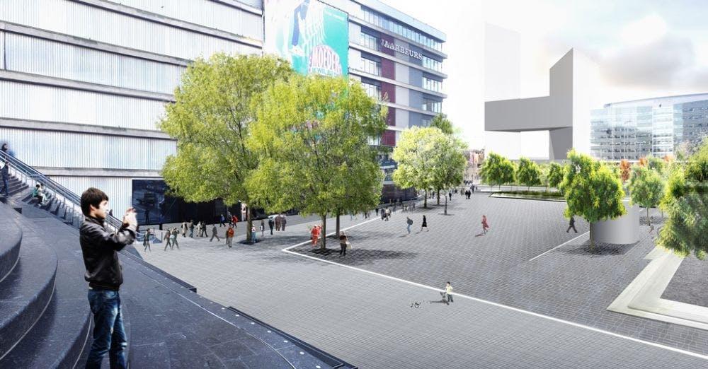 Start aanbouw vernieuwd Jaarbeursplein in Utrecht