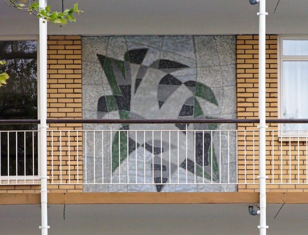 Kunst aan gebouwen: Kunstwerk van negen verdiepingen aan de Stadionflat