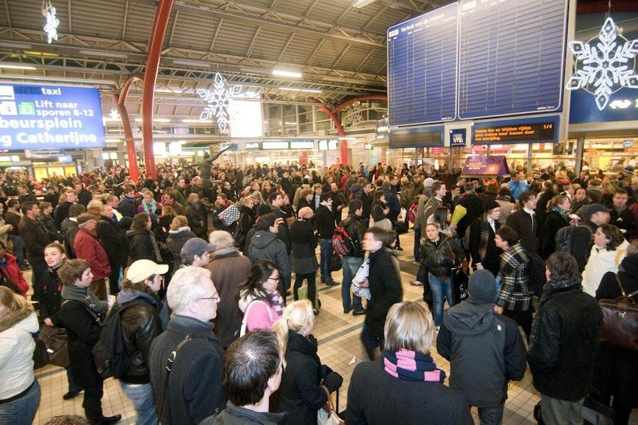 Voorlopig geen groot scherm met vertrektijden station Utrecht Centraal