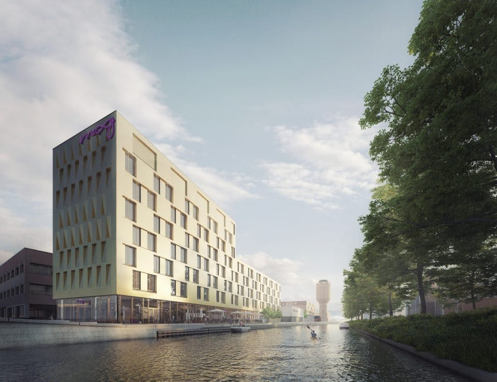 Plannen voor Moxy Hotel op Rotsoord bekend: 172 kamers met horeca