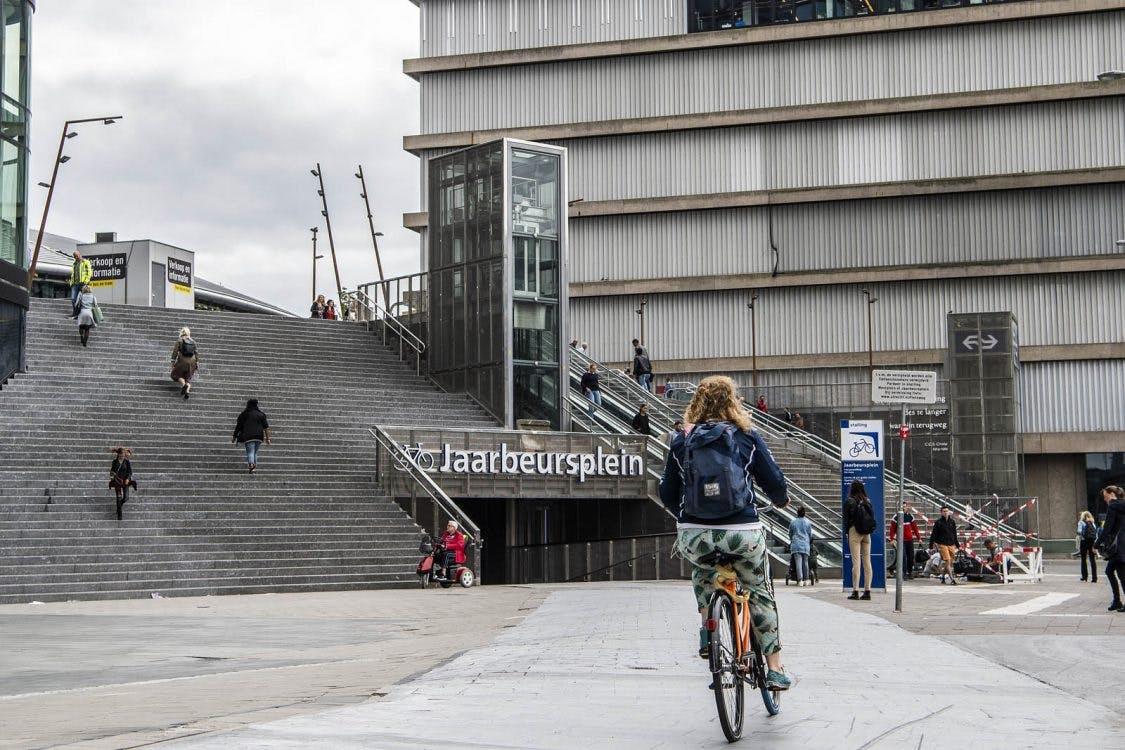 Fietsenstalling Jaarbeursplein Utrecht niet meer fietsend te bereiken