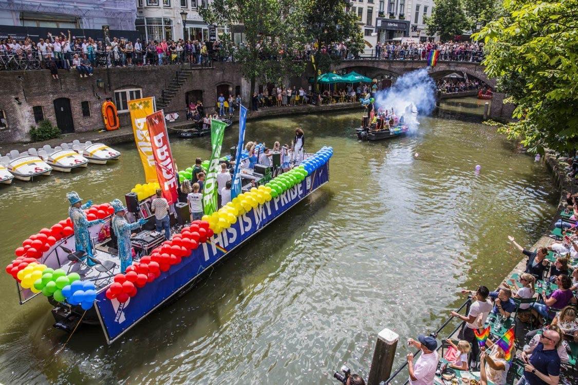 Dagtip: De stad kleurt vandaag roze tijdens Utrecht Canal Pride