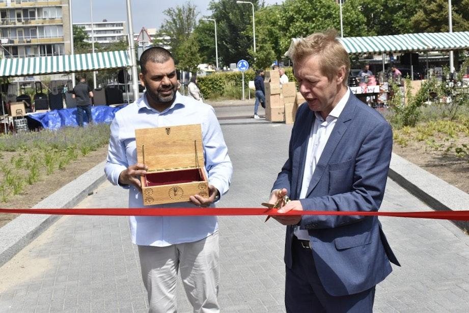 Nieuw stationsplein Overvecht feestelijk geopend na maanden van verbouwing