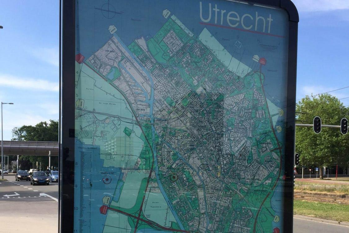 Oproep: waar staan er nog stadsplattegronden in Utrecht zonder Leidsche Rijn en Vleuten-De Meern?