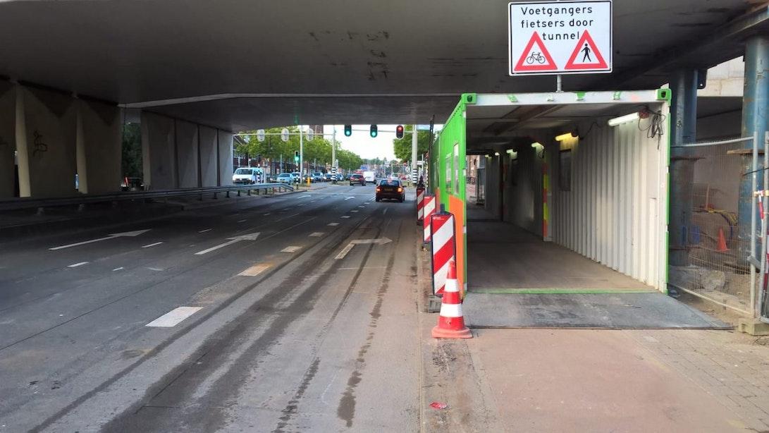 Cartesiusweg weer volledig open voor wegverkeer na verzakken viaduct