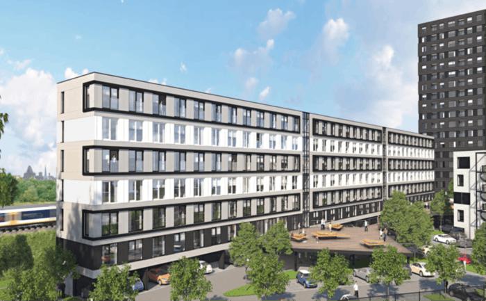 Groen licht voor 487 woningen voormalig belastingkantoor Gerbrandystraat