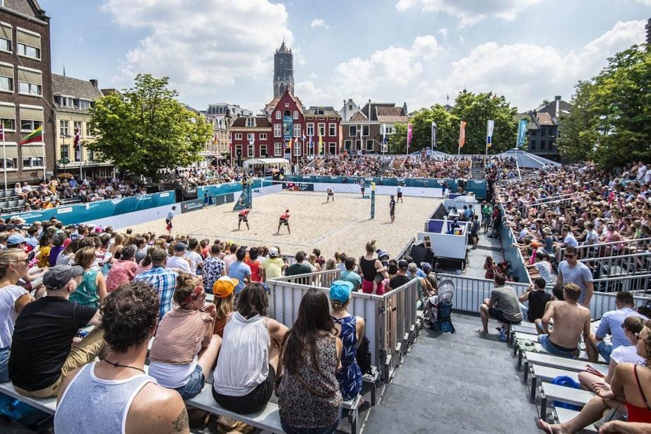 Foto's: laatste dag EK Beachvolleybal in Utrecht