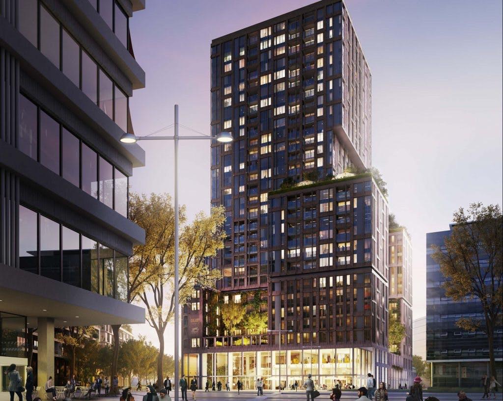 Bouw Galaxy Tower bij de Jaarbeurs gestart: 317 huurappartementen en 250 hotelkamers