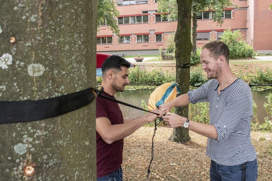Hangmatten mogen aan bomen worden gehangen in Utrechtse parken