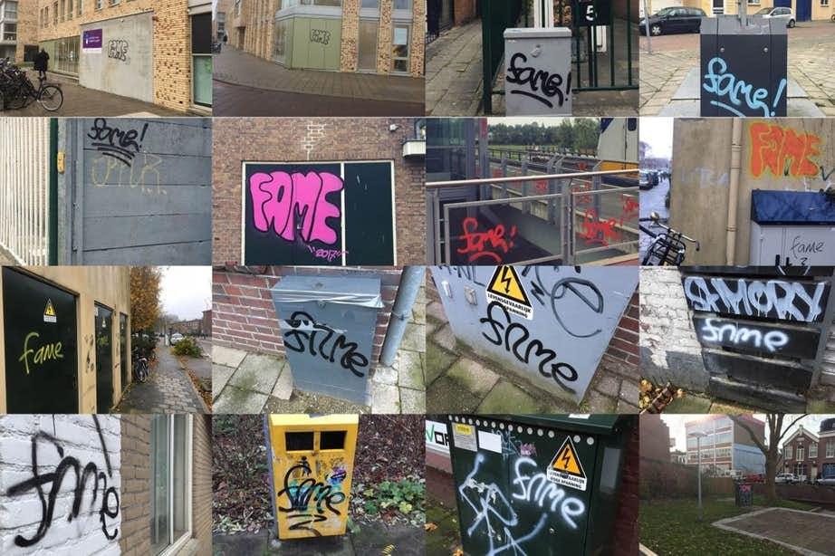 Notoire graffitispuiter Fame weer opgepakt