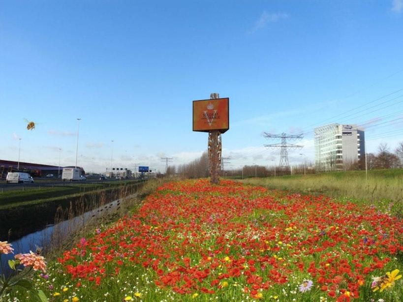 Primeur: Utrecht krijgt eerste bijenhotel als reclamemast