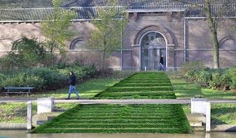 Dit jaar nog verdwijnende trap bij Centraal Museum in Zocherpark