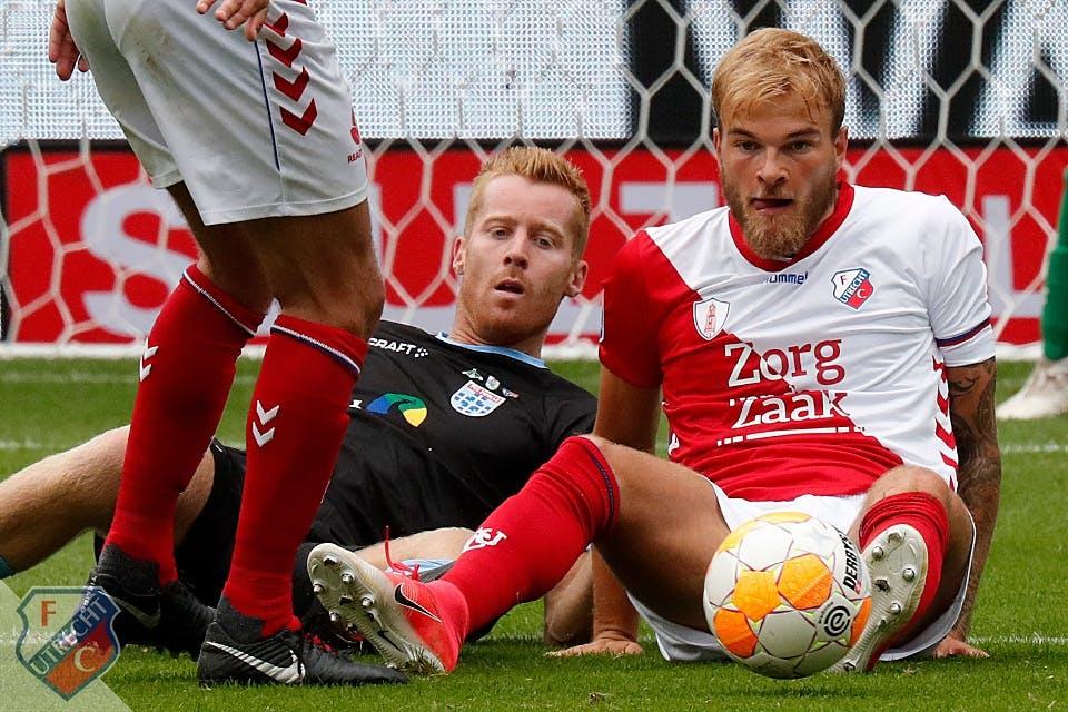 FC Utrecht met tien man voorbij pover PEC Zwolle