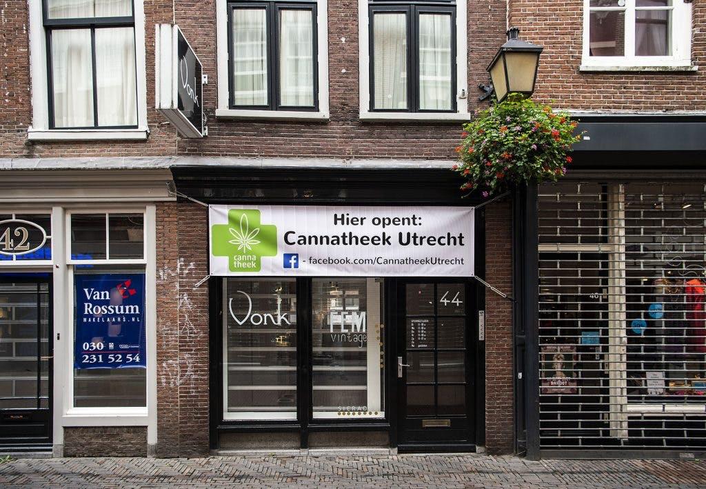 Op de Lijnmarkt in centrum van Utrecht opent een Cannatheek