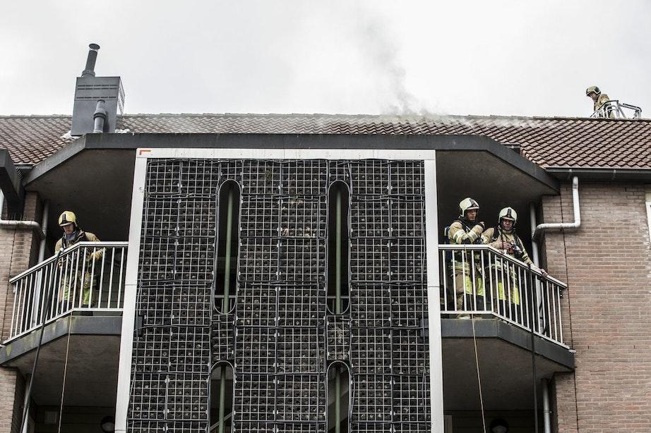 Brand in appartement in Lunetten
