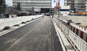 Jaarbeursplein bijna klaar: garage zo goed als af en fietspaden krijgen asfalt