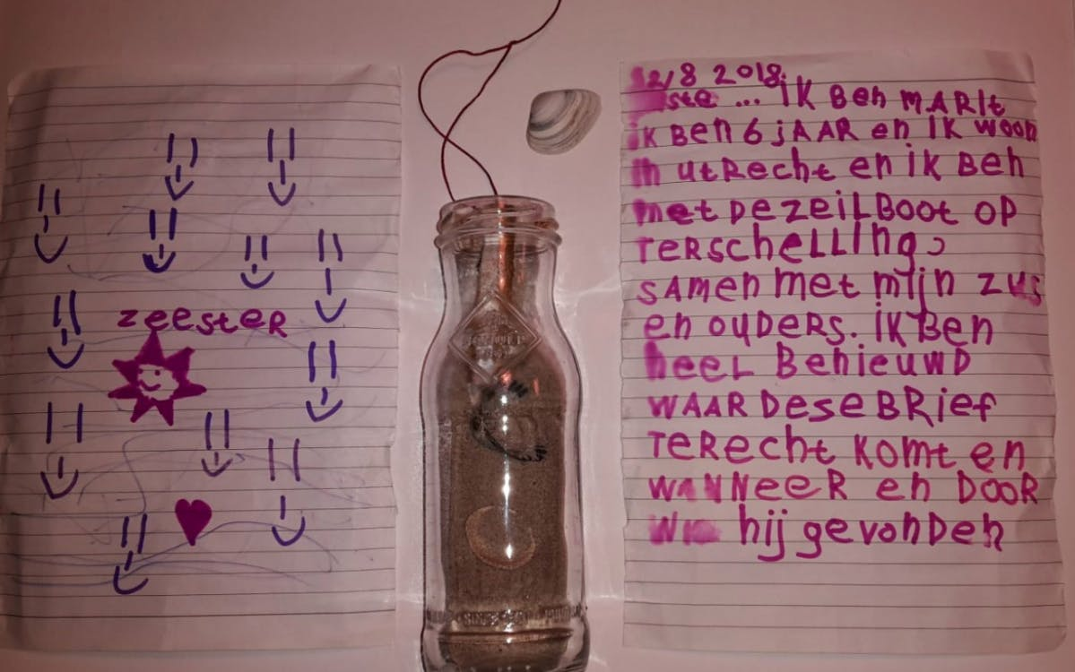 Zoektocht naar 6-jarige Marit die flessenpost verstuurde