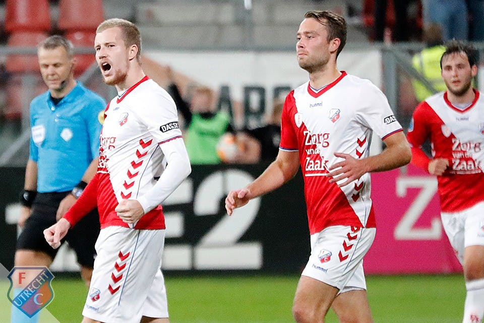 Eerste treffers Simon Gustafson helpen FC Utrecht aan zege tegen NAC