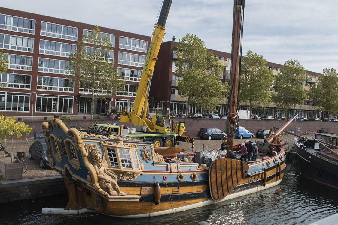 Statenjacht 'De Utrecht' terug in de Veilinghaven