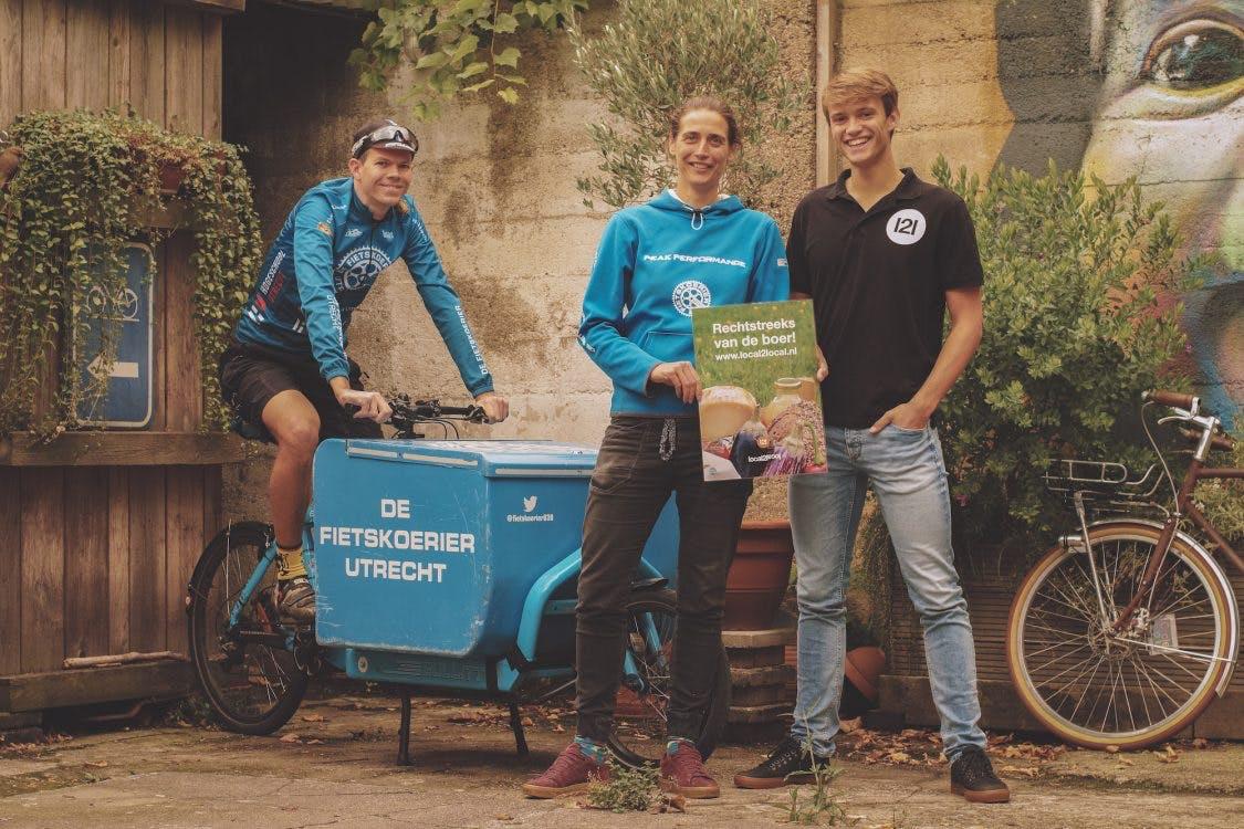 De Fietskoerier gaat groente, fruit en vlees van Local2Local bezorgen in Utrecht