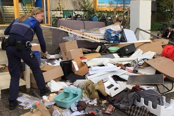 Boetes voor grote afvalberg in Overvecht