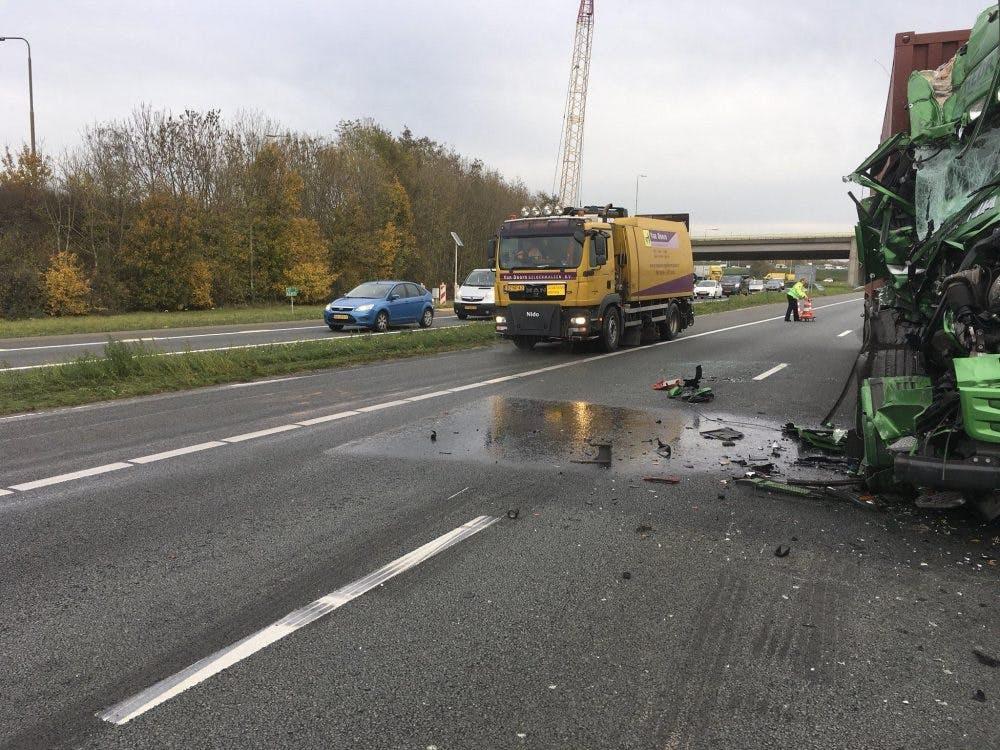 Drukke avondspits rond Utrecht door ongeluk A12