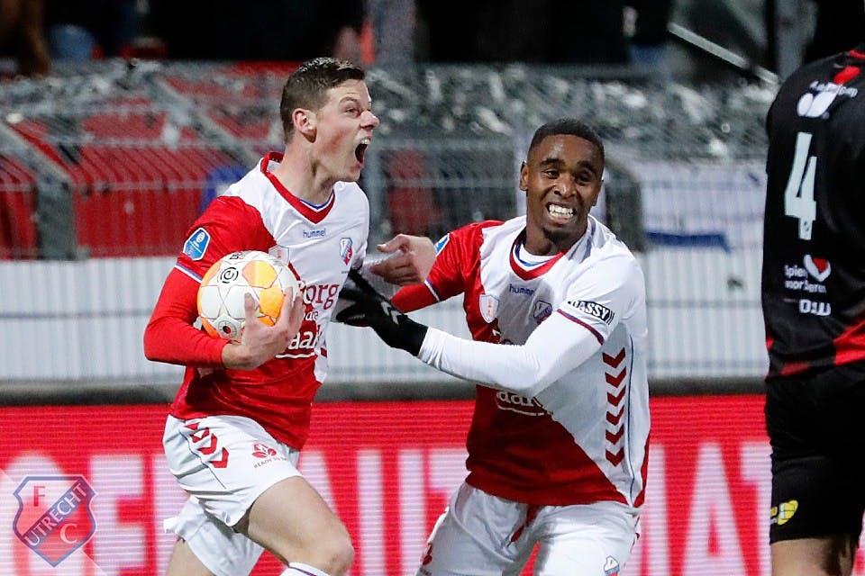 Memorabele comeback FC Utrecht levert punt op bij Excelsior
