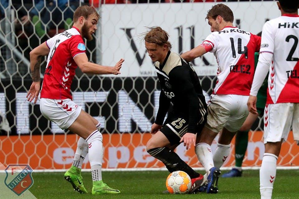 FC Utrecht in mineur winterstop in na thuisnederlaag tegen Ajax