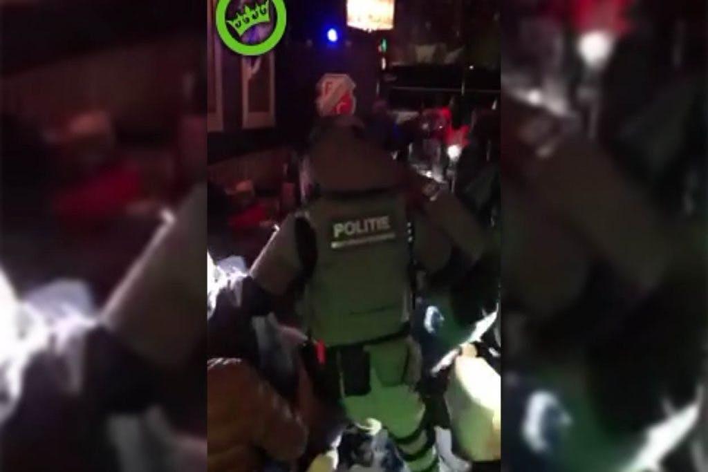 Filmpje politie-inval café FC Utrecht blijkt oefening te zijn