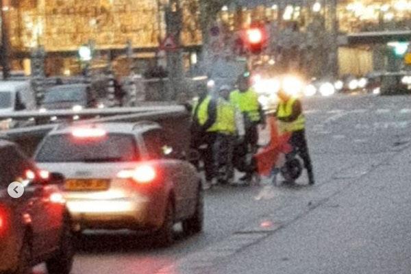 Gele hesjes-protest in Utrecht snel beëindigd