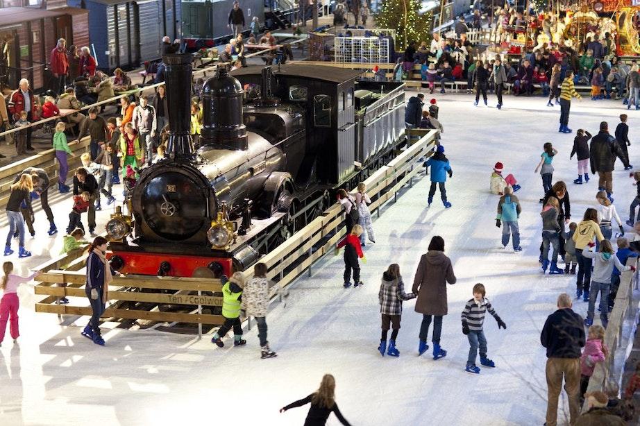 Schaatsen bij het Spoorwegmuseum voor slechts €7,50!