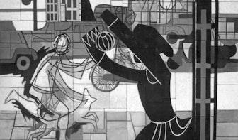 Kunst aan gebouwen: Verkeerssymfonie in Politiebureau Paardenveld
