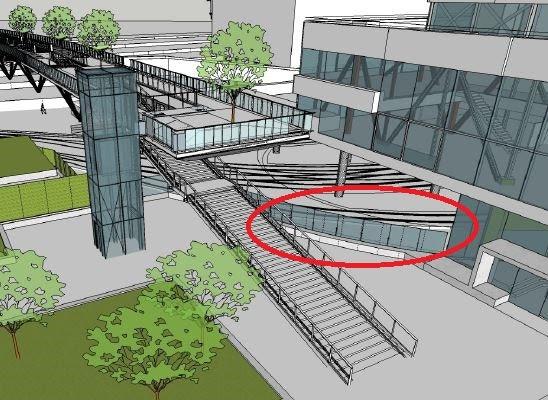 Veelbesproken glazen wand tussen Moreelsepark en busstation deze maand geplaatst