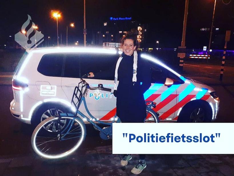 Politie maakt slot om gestolen fiets vast om eigenaar te vinden