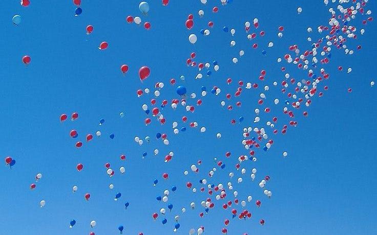 Er komt een verbod op het oplaten van ballonnen in Utrecht
