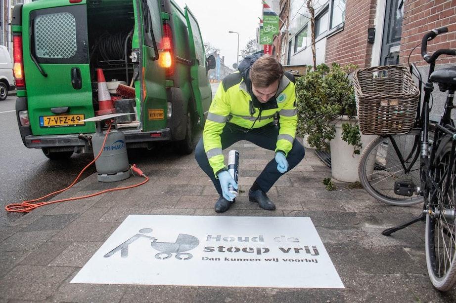 Actie 'Houd de stoep vrij' van start in Utrecht