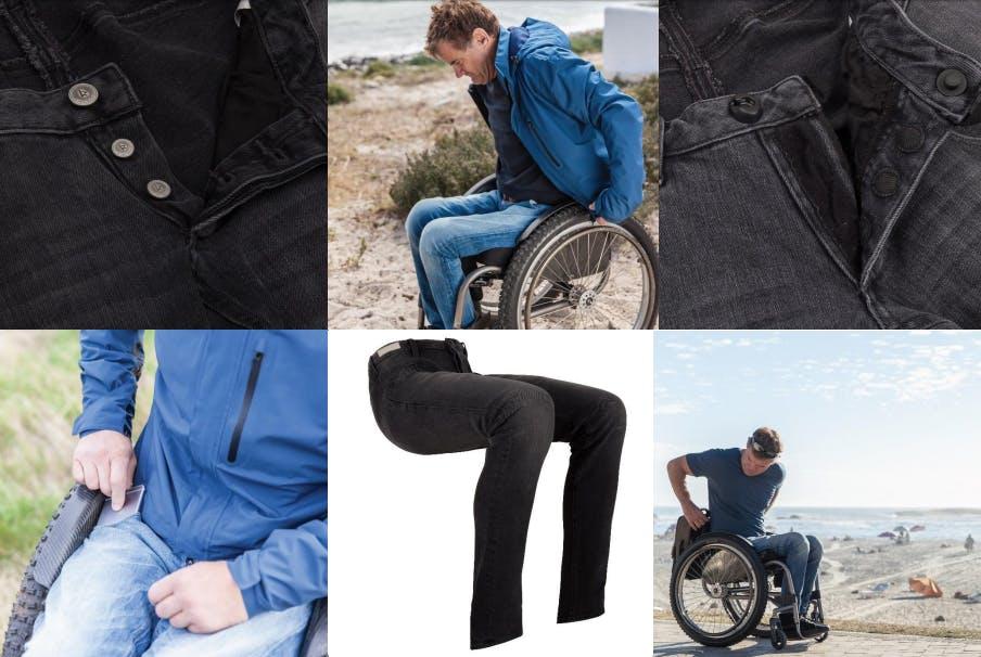De Rode Winkel verkoopt spijkerbroek speciaal voor rolstoelgebruiker