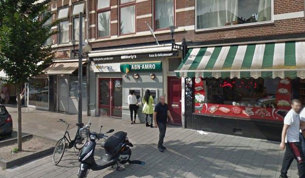 ABN Amro sluit de geldautomaten aan de Kanaalstraat in Utrecht