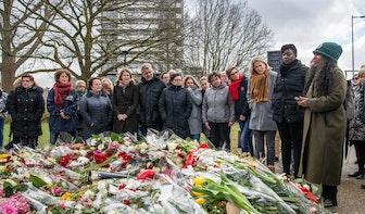 Tientallen mensen herdenken aanslag Utrecht week na schietpartij