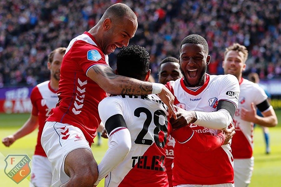 FC Utrecht houdt zicht op plek vier na winst in extremis tegen Feyenoord