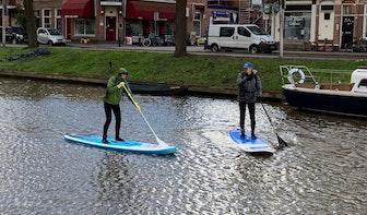 Plastic Soup Surfer houdt schoonmaakactie in Utrechtse grachten