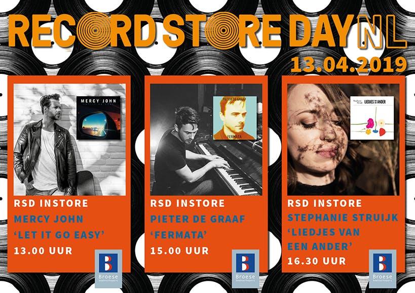 Dagtip: Record Store Day met live optredens bij Broese Boekverkopers