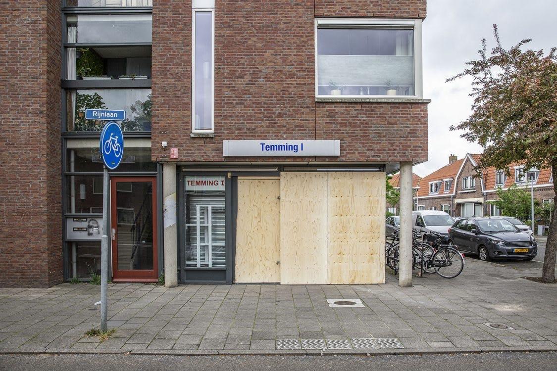 Ramkraak bij tabaksspeciaalzaak Temming aan de Amstelstraat