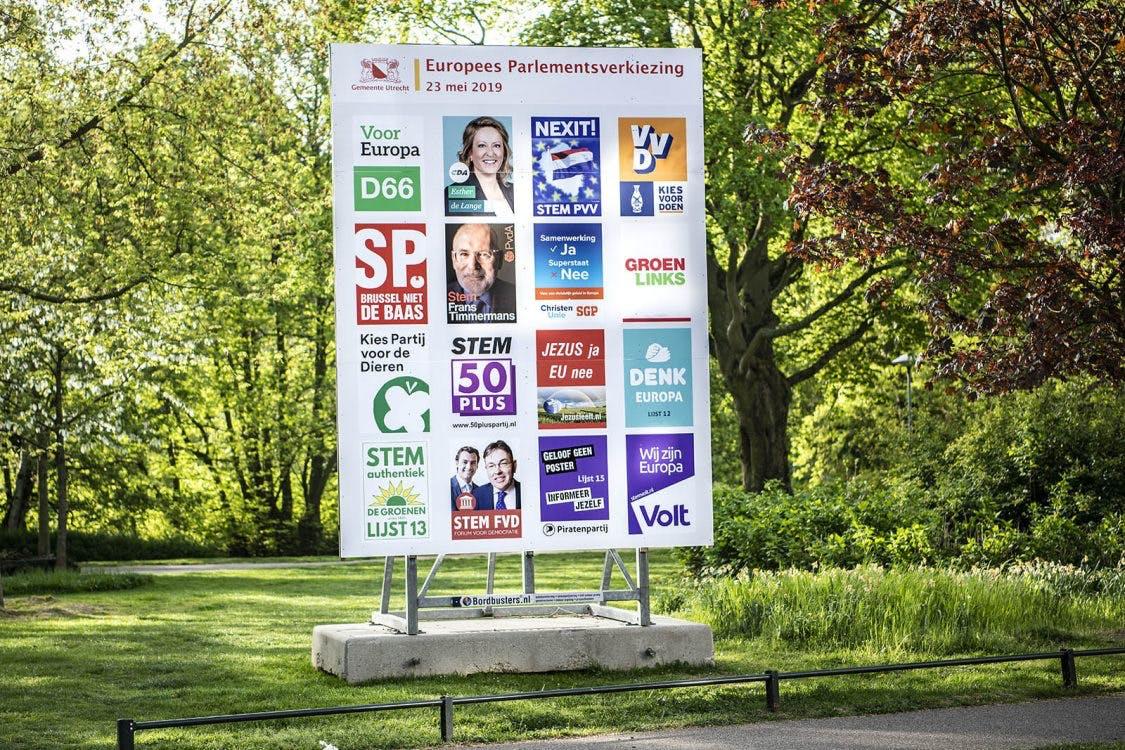Verkiezingsposters plakken verleden tijd in Utrecht